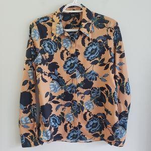 Simons Icone Satin Floral Button Down Shirt